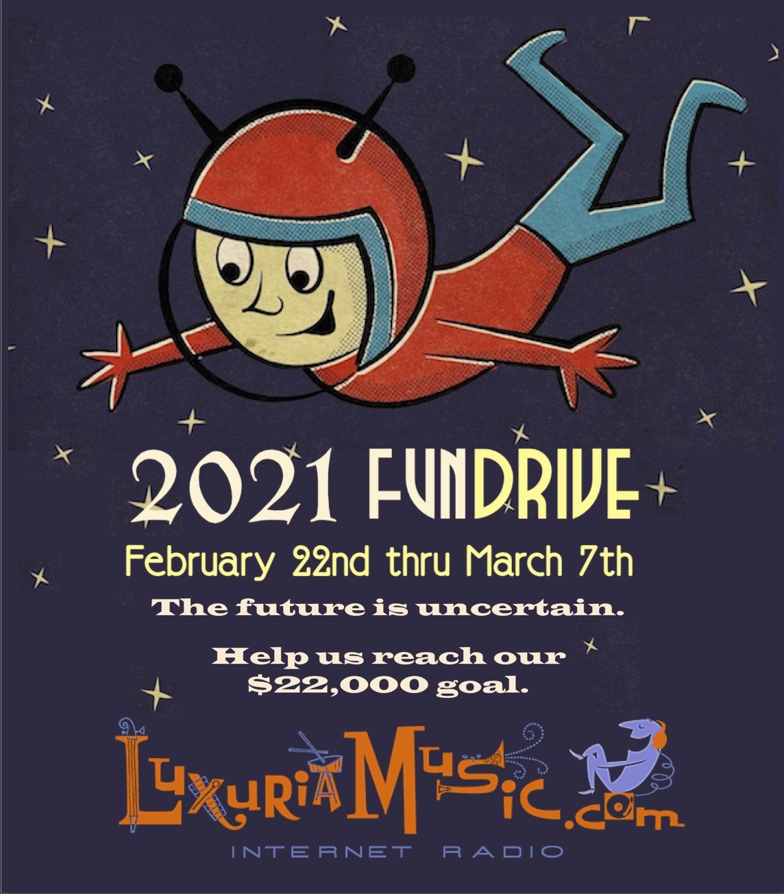 2021 FUNDrive – $22K Goal – February 22nd through March 7th